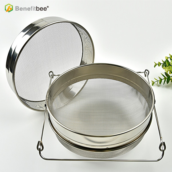 beekeeping and bee tools L Size Double-layer Stainless Steel Honey Sieve Filtration Bee Honey Filter Strainer Machine