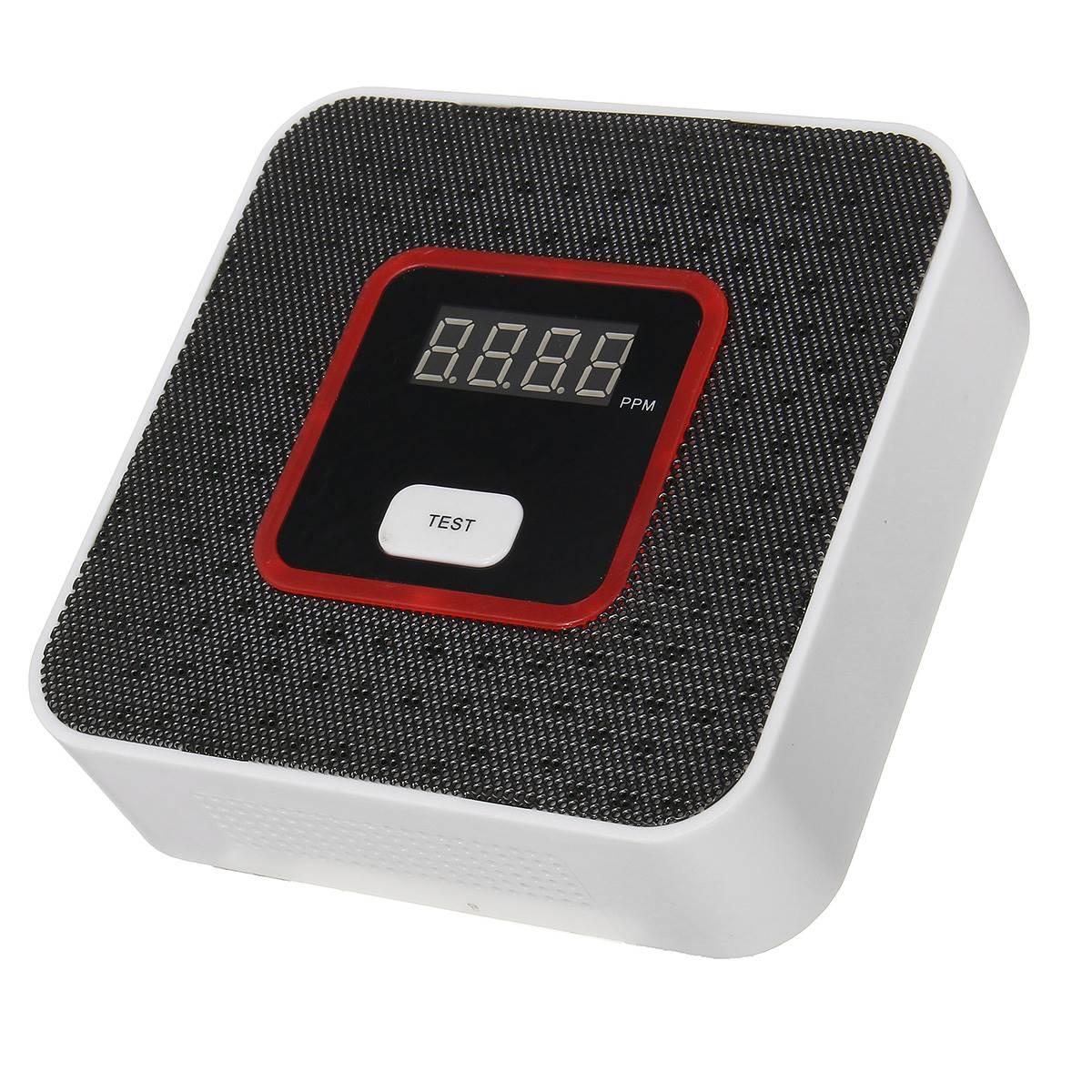 imágenes para Seguridad para el hogar LCD Inteligente Sensor de Alarma de Fugas De Gas Combustible Con Voz de Alerta Tester Detector de Seguridad Para El Hogar