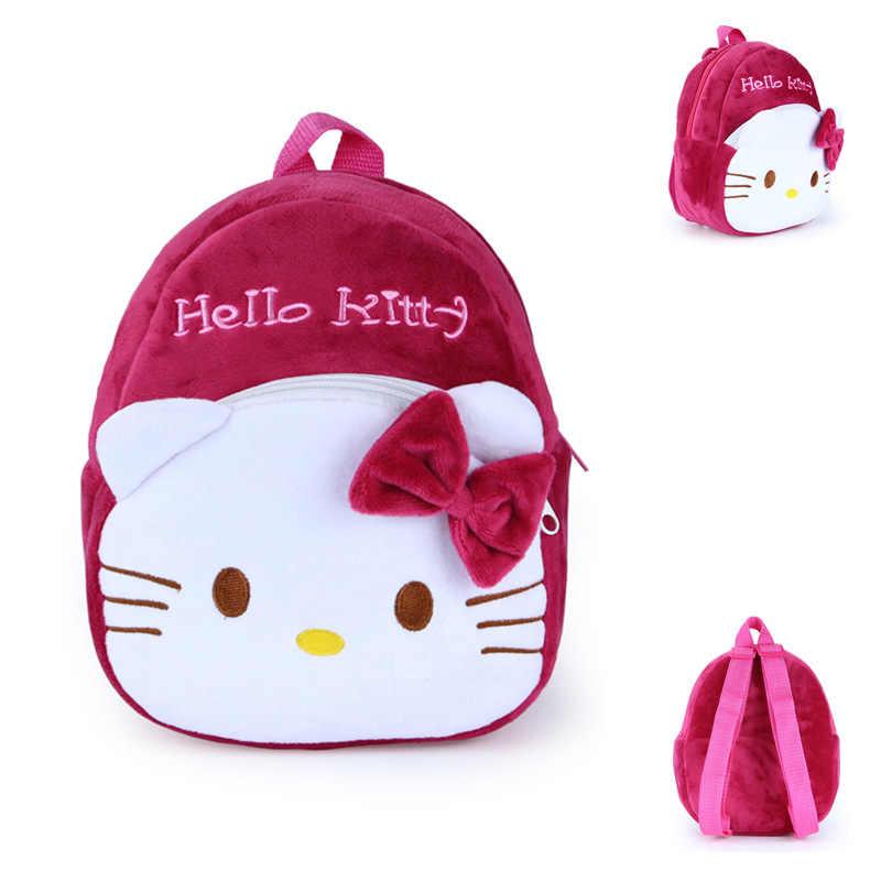 Милые детские плюшевые рюкзаки с мультяшными животными, мягкие игрушки, сумки на плечо для детей 1-3 лет, Тоторо/Стич/медведь/кошка/мышь/пчела
