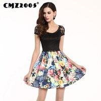 Sıcak satış yeni kadın giyim yüksek kaliteli ekleme dantel dekorasyon moda seksi mini yaz dress kişilik elbiseler 68053-1