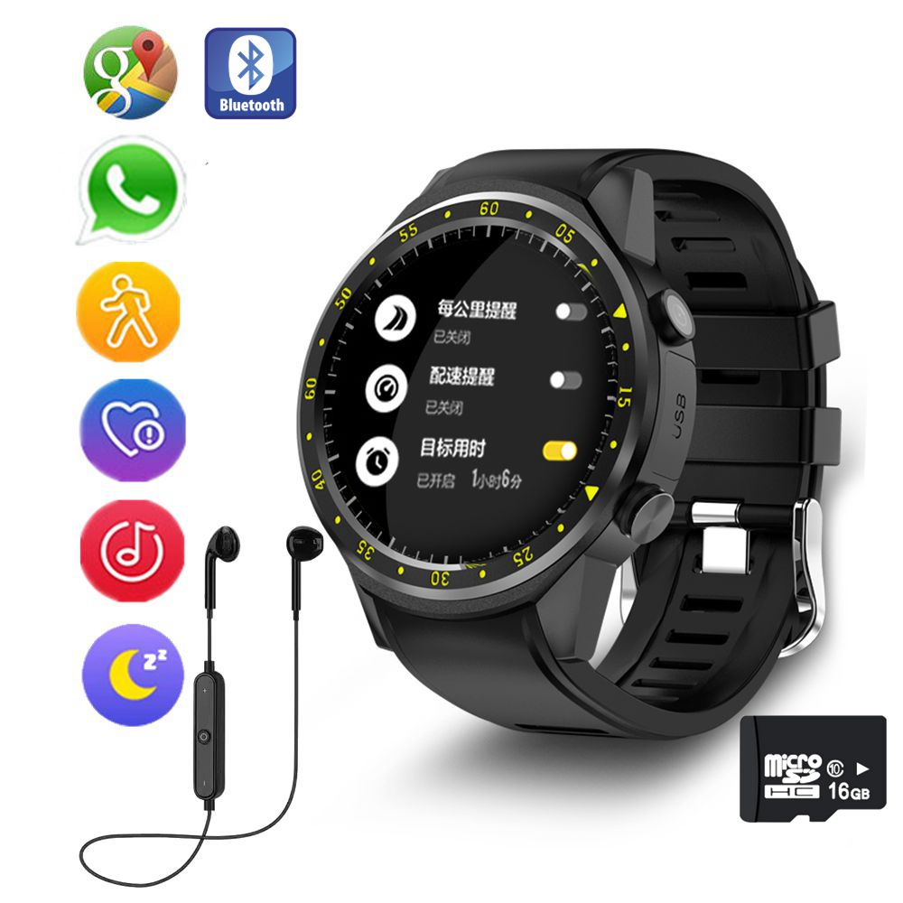 GPS Sport Smart Watch With Camera Altimeter Support Heart Rate Smartwatch Wristwatch For Android Phone