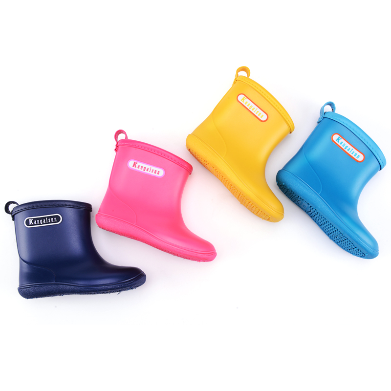 Kids Rainboots Girls Boys pupi Antiskid light Waterproof Shoes Children Baby Cute yellow Rain Boots pink rain shoes for 12M-6Y laura ashley butterfly rainboots for girls