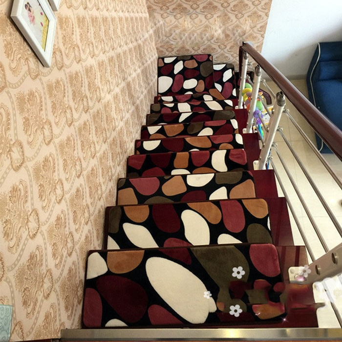 13pcs Stone Stair Treads Rectangle Non Slip Rugs Mats Country Style Staircase Pads Stepping Carpet 9style In Mat From Home Garden On Aliexpress Com