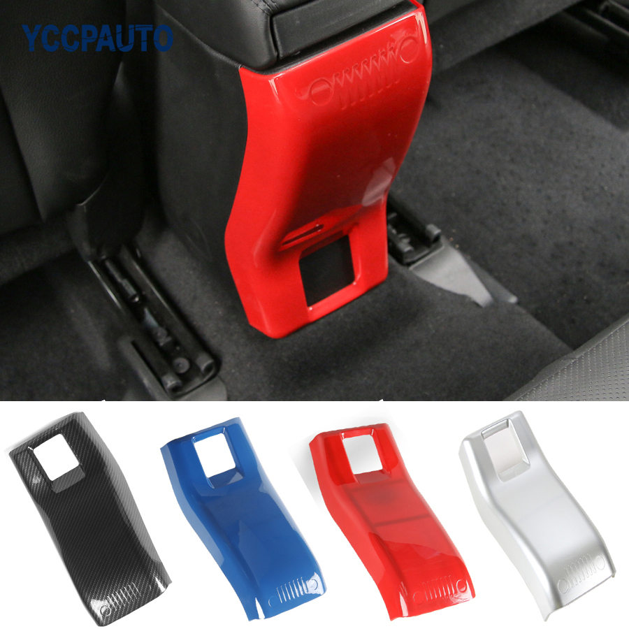 Car Styling For Jeep Renegade 2015 2016 Armrest Storage Box Rear Panel Cover Trim Interior Decoration Accessories ABS 1PCS