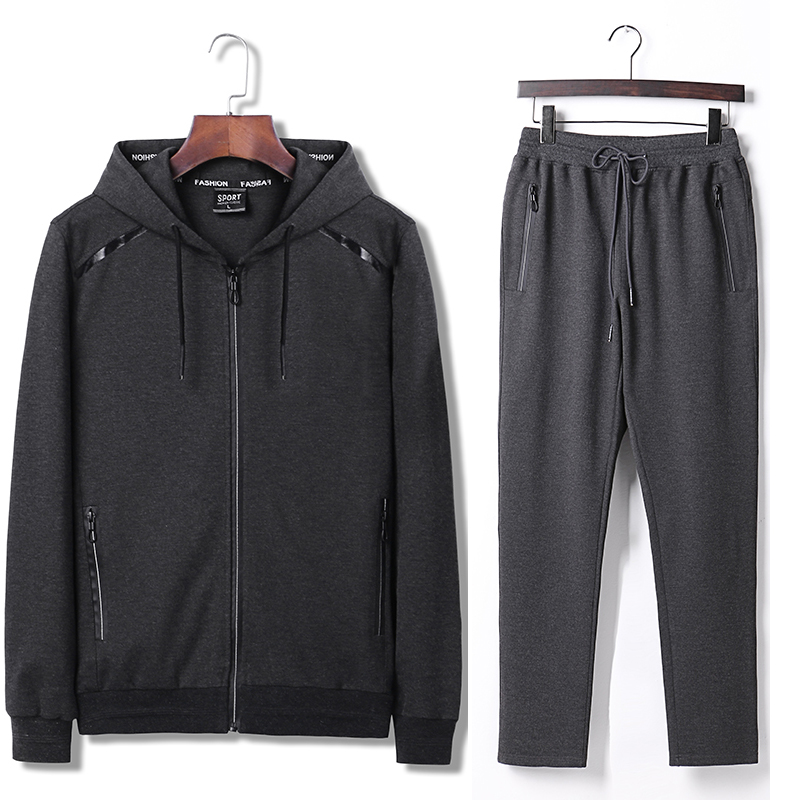 7XL 8XL 9XL Hoodies Set Mens Sport Suit Loose Big Size Sportsuit 2018 New Sportswear Gym Clothing Men Run Sets 140kg Can Wear  (4)