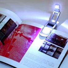 купить 3W USB Flexible Bright Clip Reading Light LED Book Desk Light Reading Booklight Bed Table Desk Lamp Book Light Gift for Student дешево