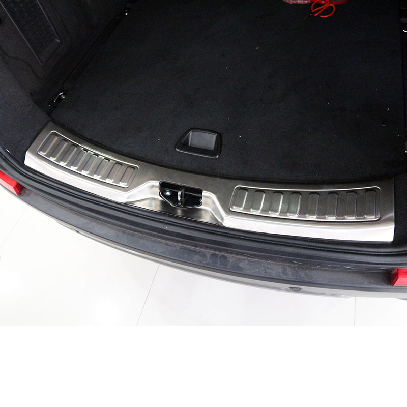 For Land Rover Discovery Sport 2015 2016 Car Styling Accessories Stainless Steel Rear Bumper Protector Trim Sticker FreeShipping 8pcs accessories fit for range rover sport 2014 2015 2016 body window door trim exterior chromium styling stainless steel 304