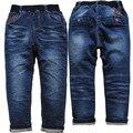 3950 мягкие джинсы брюки Детей для мальчиков джинсы дети джинсовые брюки весна осень Синий не выцветают повседневные брюки детские одежда