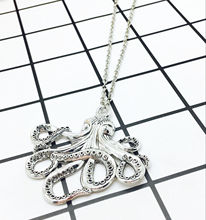 2018 Popular Hot Antique Silver 57x55mm Octopus Charms Animal Pendant Necklace Creative Fashion Women Men Jewelry Holiday Gift