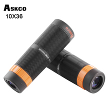 лучшая цена New Arrival 10X36 HD BAK4 Monocular Zoom Telescope with Full Nitrogen Waterproof Binoculars Telescope For Hunting Tourism