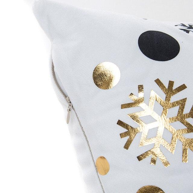 Bronzing Cuscino di Natale Oro Cuscino Stampato Copertura Decorativa Federa Divano Seggiolino Auto Federa Morbida Decorazioni Per La Casa