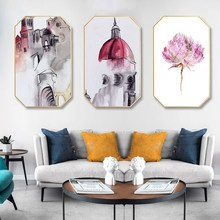 Chinese Watercolor painting beautiful woman abstract home hotel hanging background wall restaurant decorative mural