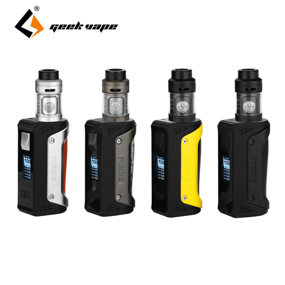 Hot Original GeekVape Aegis MOD Kit with Geekvape Zeus RTA 4ml No 18650 Battery box mod e cigs Vape Kit vs Geekvape Aegis Mini in stock geekvape aegis kit 100w box mod with 26650 battery and geekvape shield rta waterproof for ammit dual