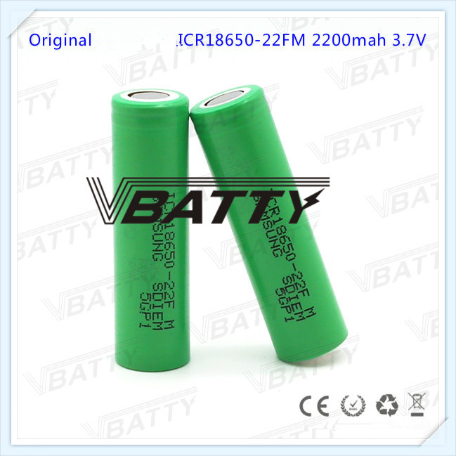 2pcs/lot Cheap for Samsung ICR18650-22FM 18650 <font><b>battery</b></font> <font><b>2200mah</b></font> <font><b>3.7V</b></font> li-ion rechargeable <font><b>battery</b></font> Very top sale image
