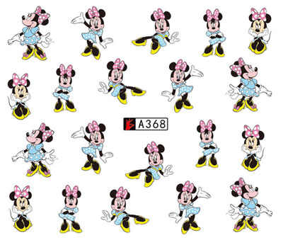 Nail Stiker Seni Slider Air Decals Kartun Mickey Mouse Minnie DIY Desain Dekorasi Manikur Stiker Foil Wraps Pegatinas