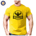 2016 new brand muscle Fitness t-shirt cotton tops tees men short sleeve boy casual homme tshirt t shirt plus fashion