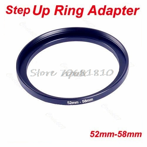 SIV Metal 52mm-58mm Step Up Filter Lens Ring 52-58 mm 52 to 58 Stepping Adapter Z09 Drop ship кольцо fujimi frsu 4952 step up 49 52mm