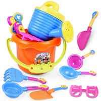 Sommer Spaß Zufällig 9Pcs Kleinkind Kinder Kinder Outdoor Meer Sand Strand Eimer Schaufel Rechen Wasser Spielzeug Set Klassische Baby wasser Spielzeug