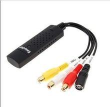 Бесплатная доставка Новый USB 2.0 Easycap DC60 TV DVD VHS видео адаптер Capture AV аудио Захват