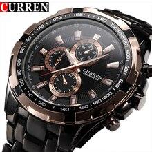 Fashion Curren Luxury Brand Man quartz full stainless steel Watch Casual Military Men's Dress Wristwatch Gentleman 2016 New все цены