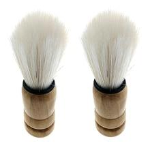 Professional Men Barber Salon Bristle Hair Shaving Shave Wooden Handle Brush