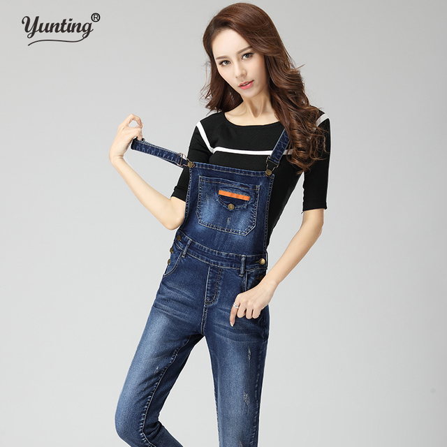 3c1f4ab566 Denim Rompers Womens Jumpsuit Jeans Overalls Elegant Denim Overalls Women  Slim Elegant Sexy Ladies Playsuit Trousers Jumpsuit