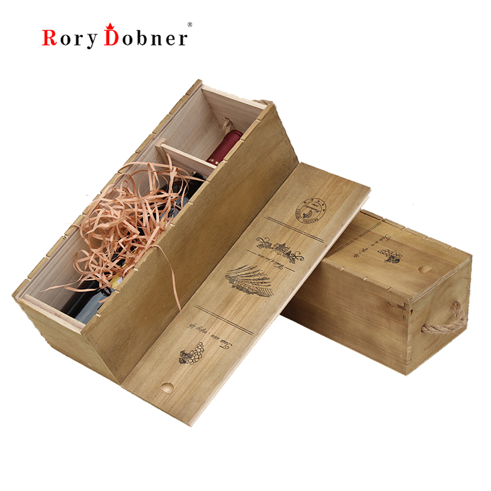 Wine Box 1 Bottle Wine Wine Gift Box Customization Winery Packaging Wooden General Wholesale Bar Restaurant Hotel Present Hz278 On Aliexpress Com