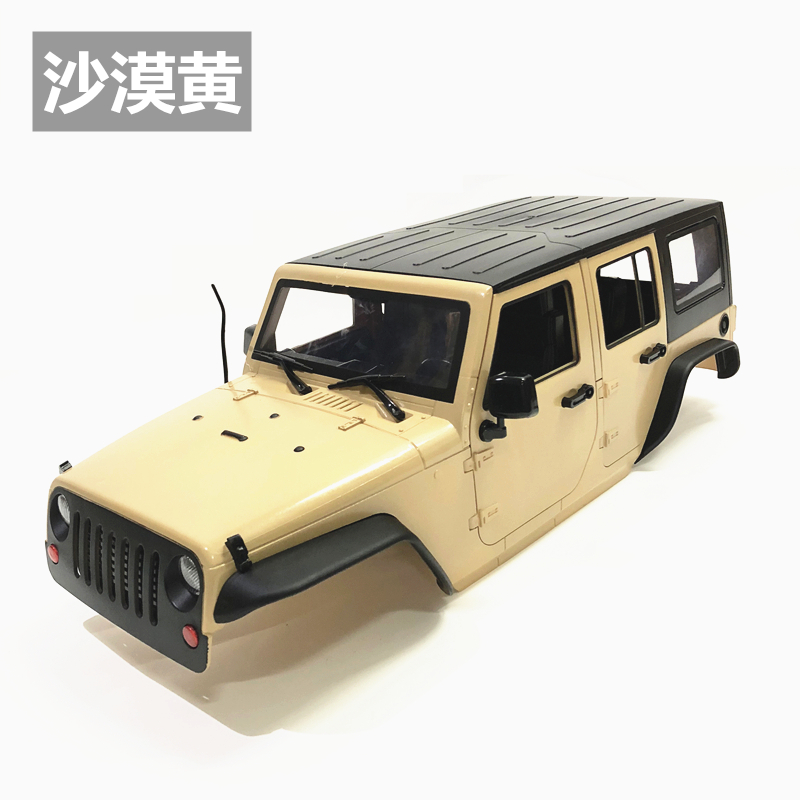 Unassembled 12.3inch 313mm Wheelbase  jeep  Wrangle  Body Car Shell for 1/10 RC Crawler Axial SCX10 & SCX10 II 90046 90047 5