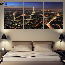 3 Panels/Set Large Effiel tower Picture Canvas painting Modern Artwork Wall Decorative print painting On Canvas no framed