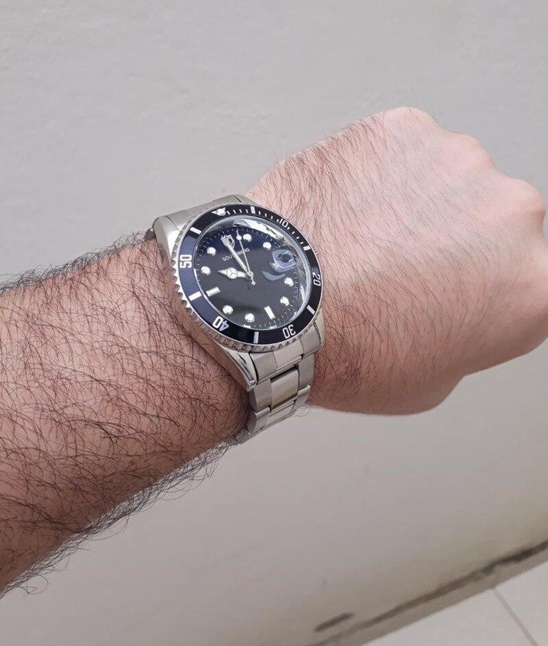 2017 2016 relojes de lujo a la moda para hombre, relojes de pulsera de cuarzo de acero verde de marca superior SOUTHBERG para hombre relogio masculino
