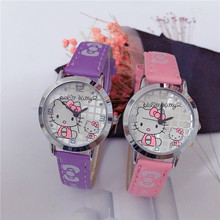 WoMaGe 2018 Cute Cat Wristwatches for Women Jelly color