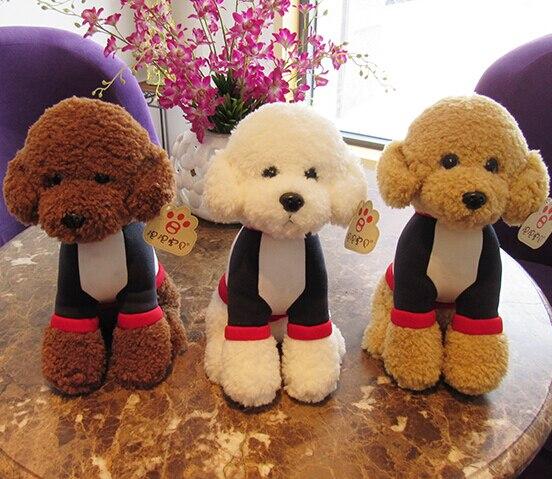 Super Cute 1pc 30cm Cartoon T Shirt Poodle Teddy Dog Soft Plush Doll