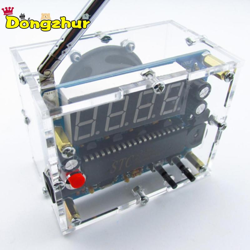 High Quality DIY FM Radio Kit font b Electronic b font Learning Assemble Suite Parts For