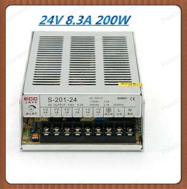 De calidad superior 24 V 8.5A 200 W Pequeño Volumen Doble Salida de Conmutación de alimentación para la Tira del LED luz