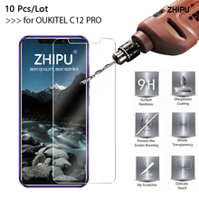 10 Pcs/Lot Tempered Glass For OUKITEL C12 PRO Screen Protector 2.5D 9H  Protective Film