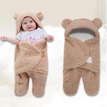 Recién Nacido abrigo para dormir manta de bebé de algodón de niños niñas lindo manta bolsa de dormir saco de dormir Bebé saco de dormir