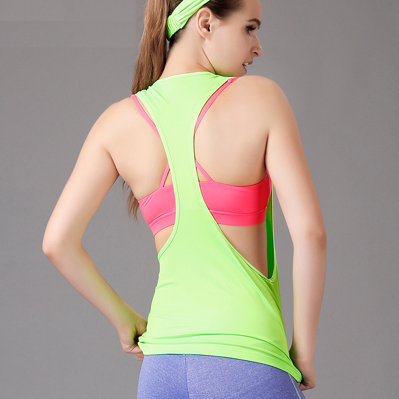 40ffefed879eb Women Gym Workout Clothing Sports T Shirt Yoga Vest Fitness Training  Exercise Running Sportswear Tee Tank Tops Singlets Clothes on  Aliexpress.com
