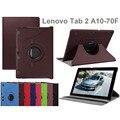 Caliente A10-70F cubierta de cuero para Lenovo Tab 2 A10-70 A10 70 10.1 caja de la tableta cubierta de libro protector del caso del soporte de la gota