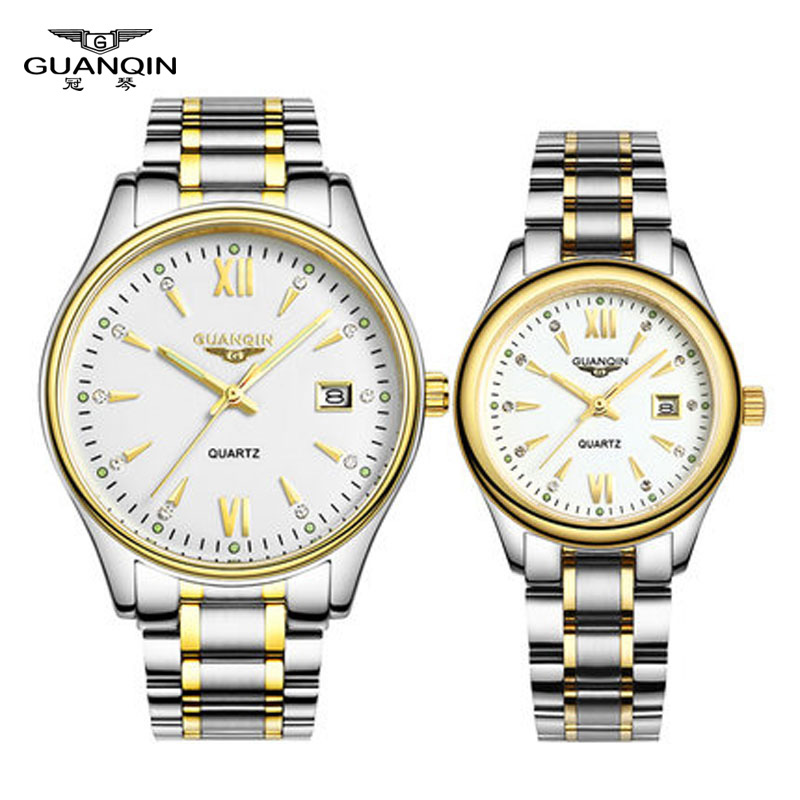 Fashion Lovers Watch Quartz Tops Luxury Brand GUANQIN Waterp