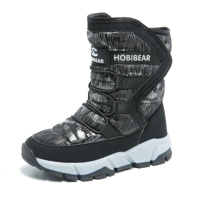 ULKNN/зимняя обувь для детей; детская обувь; зимние ботинки для мальчиков и девочек на платформе; нескользящая теплая внутри плюшевая водонепроницаемая обувь
