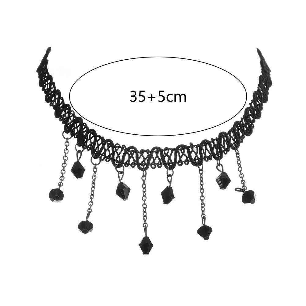 1 pièces nouveau mode femmes noir pendentif chaîne collier cristal Choker Chunky déclaration bavoir collier bijoux charme