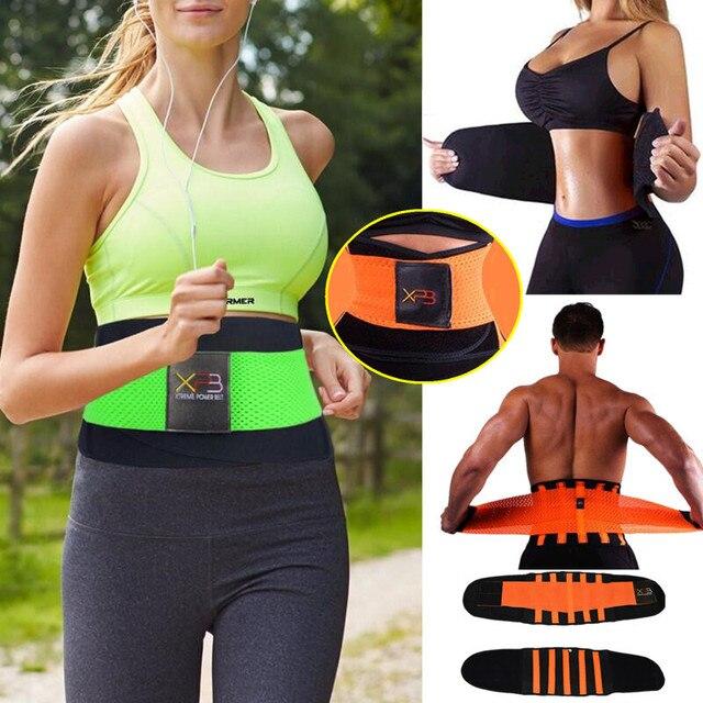 Women Men Hot Sport Waist Cincher Girdle Belt Body Shaper Belly Fat Burning Tummy Training Corset Slimming Workout GYM Shapewear