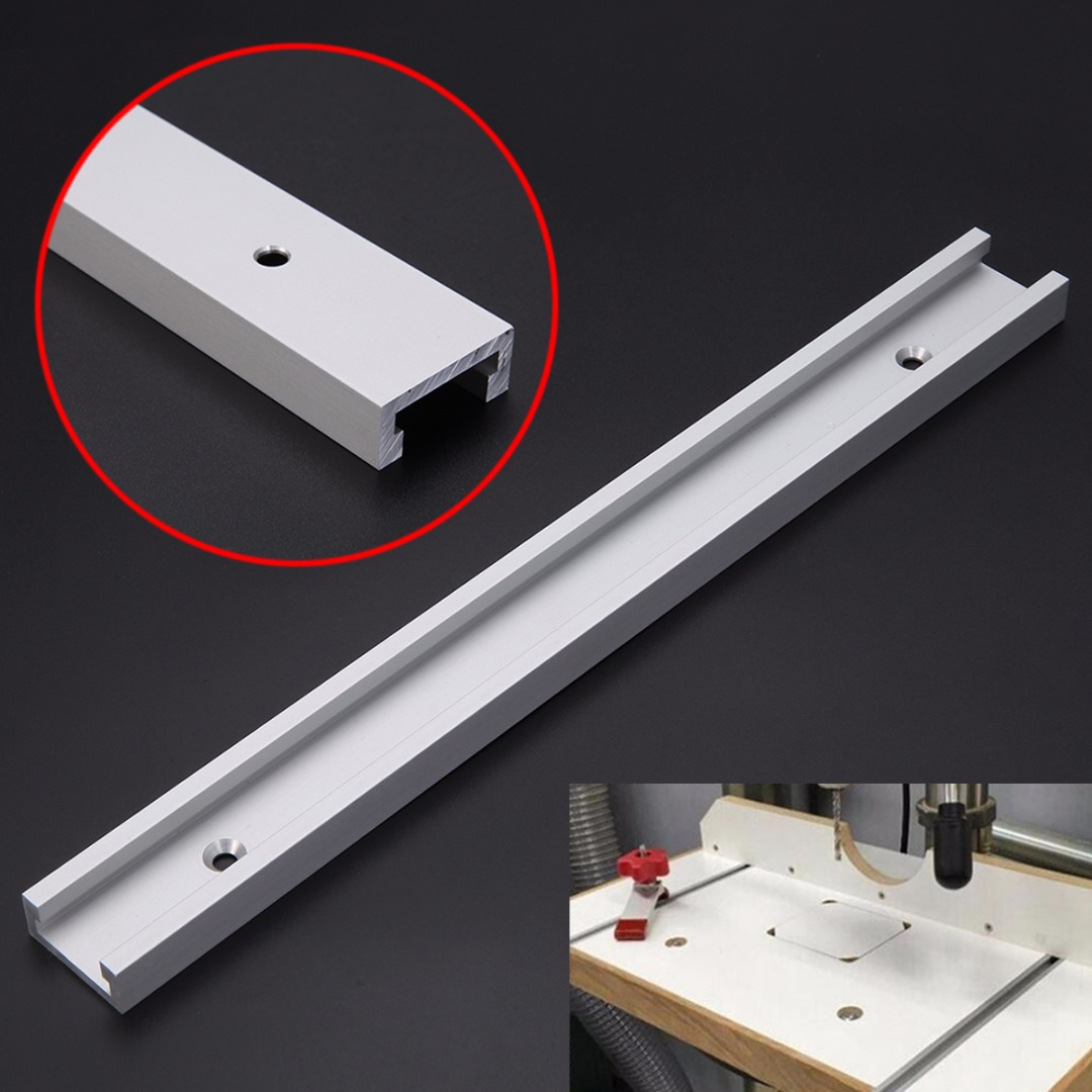 1pc T-track T-slot Router Table Saw Aluminum Alloy Slot Woodworking Tool 300mm Length with Screws 1pc 300mm length aluminum alloy t track router table saw woodworking t slot with anti corrosion