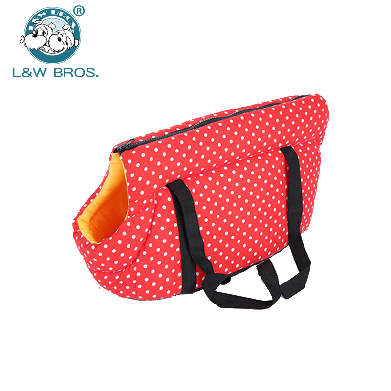 Dot Printed Dog Carrier Bag Cozy & Soft Puppy Pet Dog Travel Carrier Cat Shoulder Carry Bag Pet Handbag Pet Supplies