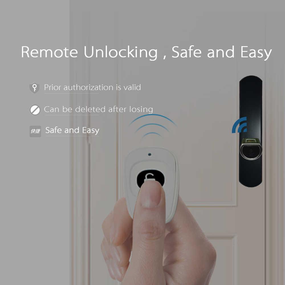 L5SR WELOCK บลูทูธสมาร์ทล็อคอิเล็กทรอนิกส์กระบอกกลางแจ้งกันน้ำเครื่องสแกนลายนิ้วมือ Biometric Keyless ประตูล็อค