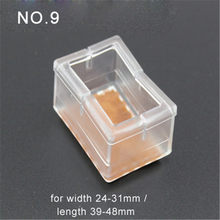 4pcs Plastic Clear Rectangle Bottom Chair Leg Foot Protect Pad Furniture Table Base Cap Cover Antiskid Floor Protection NO.9(China)