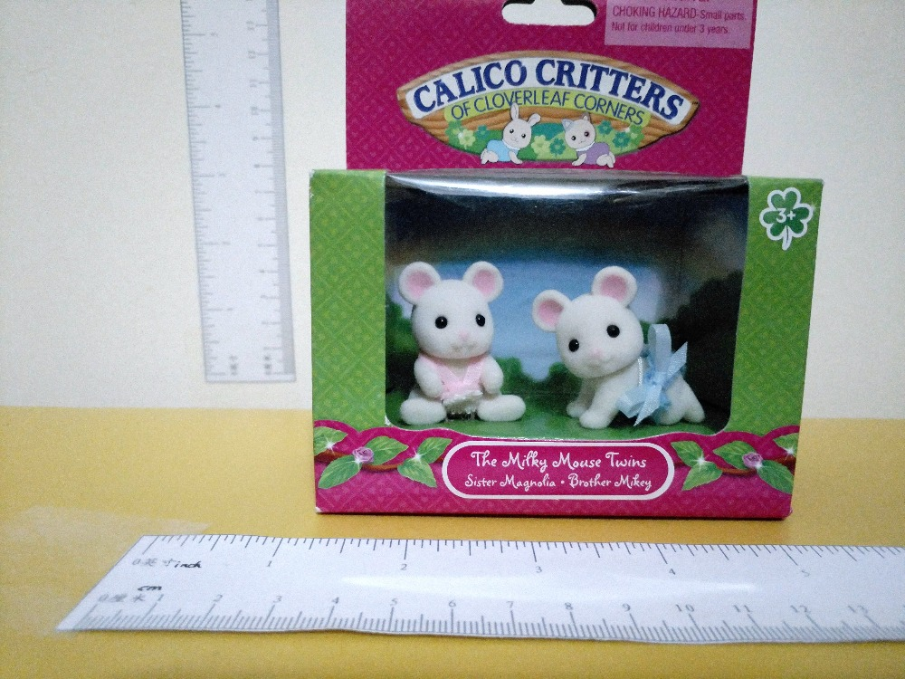 The mini size mickey Mouse Twins baby Sylvanian Family original Figures font b Anime b font
