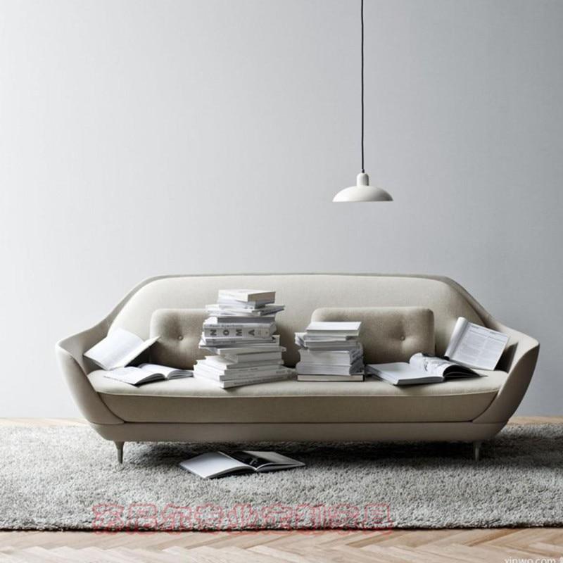 U-BEST Modern High Quality Velvet Fiberglass Thre Seat Fritz Hansen Favn Sofa,Luxury Exclusive Favn Sofa With Soft Pad By Jaime