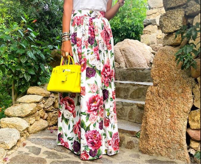 Taille Jupe 3xs Color Femmes Plus Picture Fleur D'impression Haute Personnaliser 10xl Maxi Longue De Fait B4gwKyqt