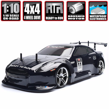 HSP Racing Rc Drift Car 4wd 1:10 Electric Power On Road 94123 FlyingFish 4x4 vehicle High Speed Hobby Remote Control - discount item  10% OFF Remote Control Toys